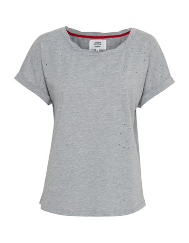 Denim Hunter Havanna T-shirt-LIGHT GREY MELANGE-Large