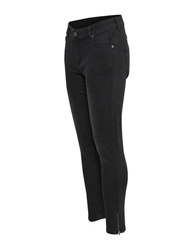 Denim Hunter Celina Zip Custom Jeans-BLACK WASH-31