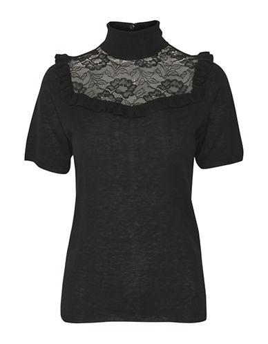 Karen By Simonsen Rudiment Wool-Blend Top-BLACK-X-Small