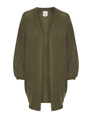 Karen By Simonsen Open Front Wool-Blend Cardigan-COPPER-X-Large