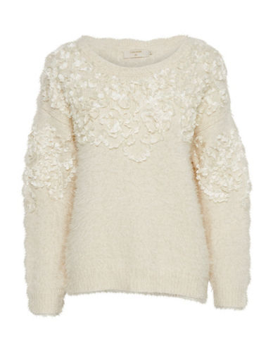 Cream Juliette Pullover-BEIGE-Medium