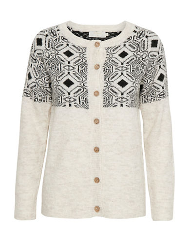 Cream Fillie Button-Front Cardigan-WHITE-Small