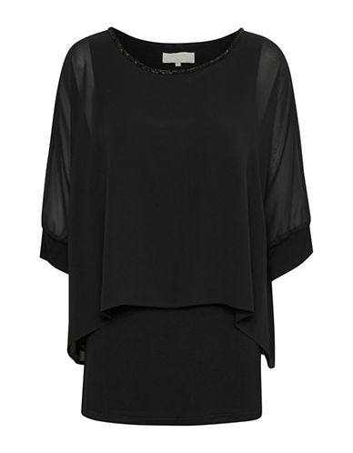 Cream Chelrys Blouse-BLACK-34