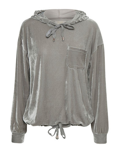 Cream Ilaria Hoodie-GREY-X-Small