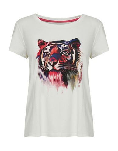 Denim Hunter Lion Short-Sleeve Tee-OFF WHITE-Small