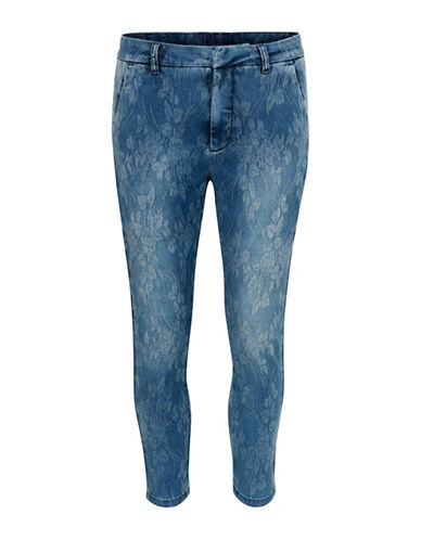 Denim Hunter Steel Flower Jeans-BLUE-40