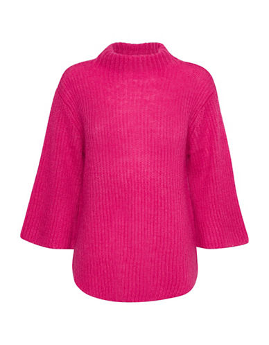 Denim Hunter Coco Turtleneck Knit Sweater-PINK-Large