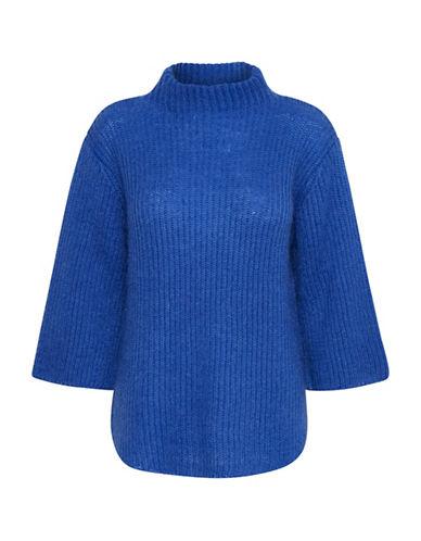 Denim Hunter Coco Turtleneck Knit Sweater-BLUE-Large