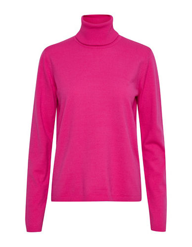 Denim Hunter Sophie Roll Neck Top-PINK-Small