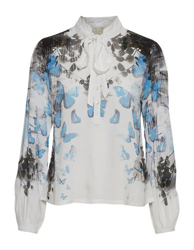 Cream Gunvor Floral Blouse-CHALK-36