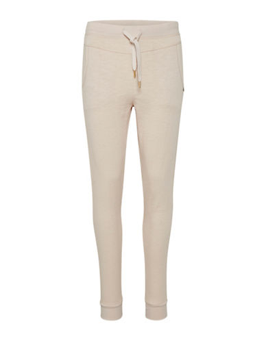 Cream Haly Cotton Sweatpants-PINK-Small