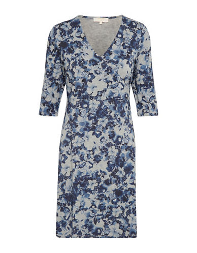 Cream Jessica Floral Sheath Dress-INDIGO-Large