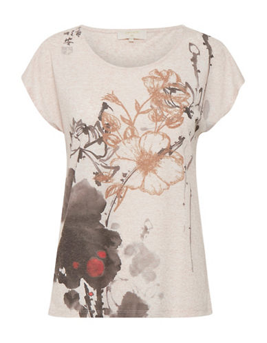 Cream Ally Floral Tee-PINK-X-Small