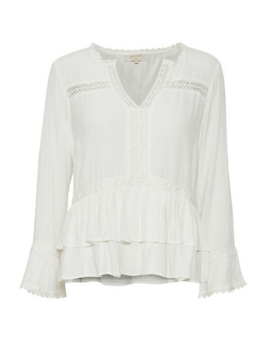 Cream Kalan Bell-Sleeve Blouse-WHITE-34