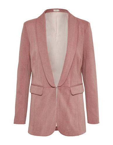 Cream Winnie Heathered Blazer-PINK-X-Small