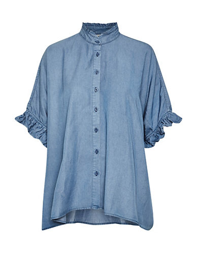 Tactic Ruffled Denim Shirt by Karen By Simonsen