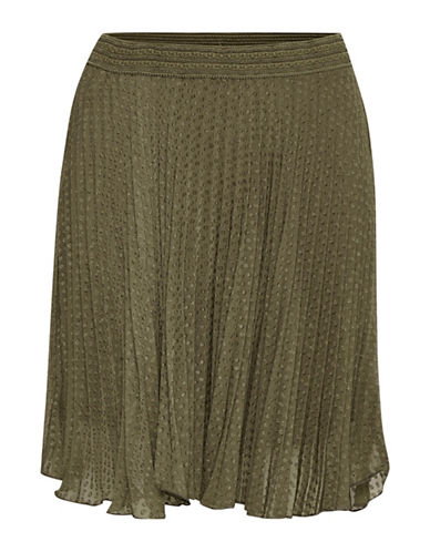 Cream Allie Textured Skirt-GREEN-36