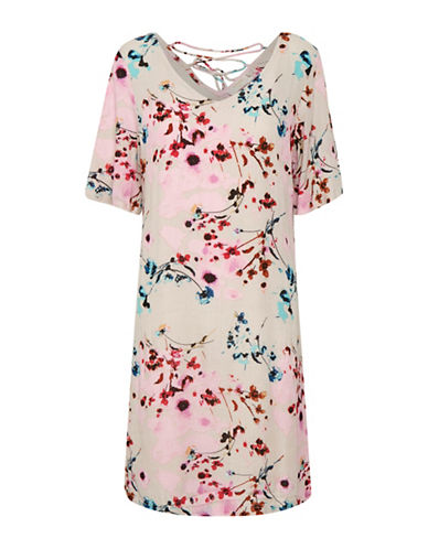 Cream Alison Floral Dress-BEIGE-42