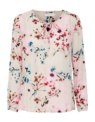 Cream Alison Floral Blouse-PINK-36