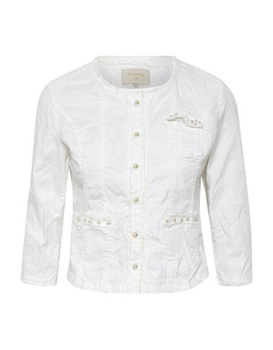 Cream Cara Pearl Jacket-WHITE-40