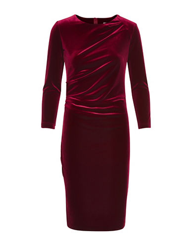 Inwear Nisas Long Sleeve Sheath Dress-RED-34