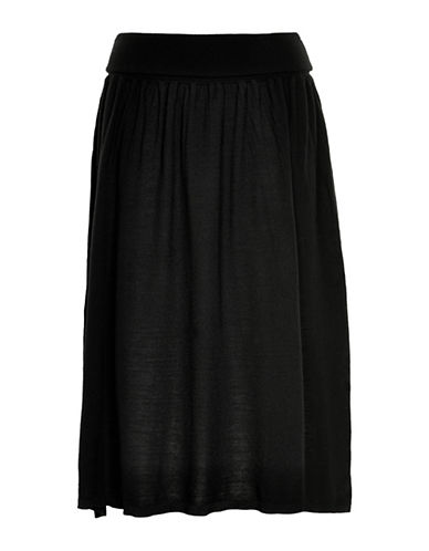 Inwear Wiwa Merino Wool Knit Skirt-BLACK-Small