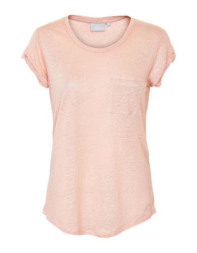 Inwear Vuzima Linen Pocket Tee-PINK-Medium