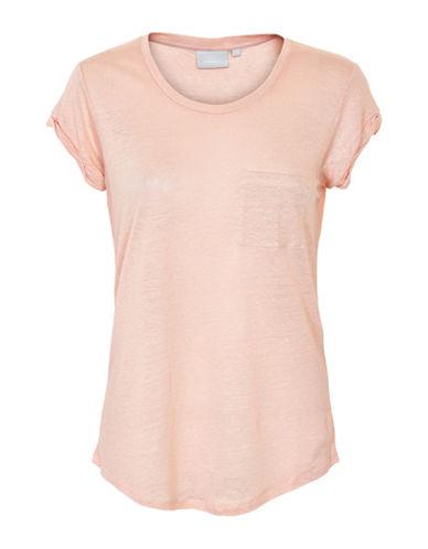 Inwear Vuzima Linen Pocket Tee-PINK-X-Large