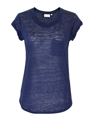 Inwear Vuzima Linen Pocket Tee-ROYAL BLUE-Medium
