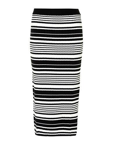Inwear Yetta Striped Knit Skirt-BLACK-X-Small