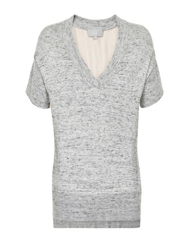 Inwear Yitta Textured Wool-Blend Sweater-GREY-X-Small