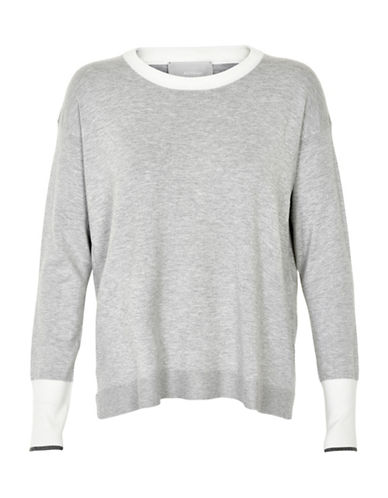 Inwear Ynes Colourblock Pullover-GREY-X-Small