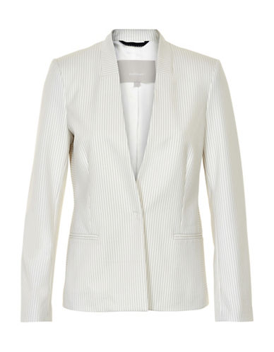 Inwear Zadie Pinstriped Blazer-WHITE-34