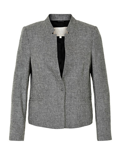 Inwear Zia Linen and Cotton Marl Blazer-GREY-40