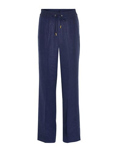 Inwear Zeta Drawstring Crepe Pants-BLUE-36