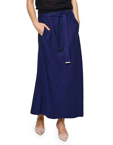 Inwear Zeta Maxi Crepe Skirt-BLUE-36