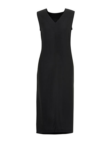 Inwear Solid Shift Dress-BLACK-32