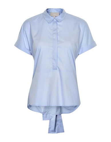 Inwear Tie Detail Poplin Blouse-BLUE-36