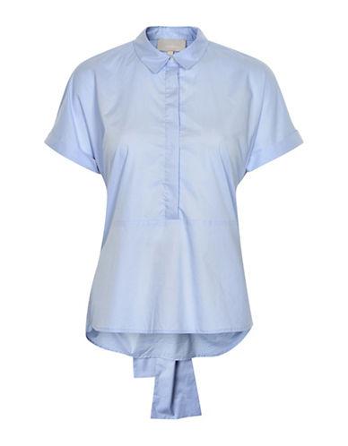 Inwear Tie Detail Poplin Blouse-BLUE-34