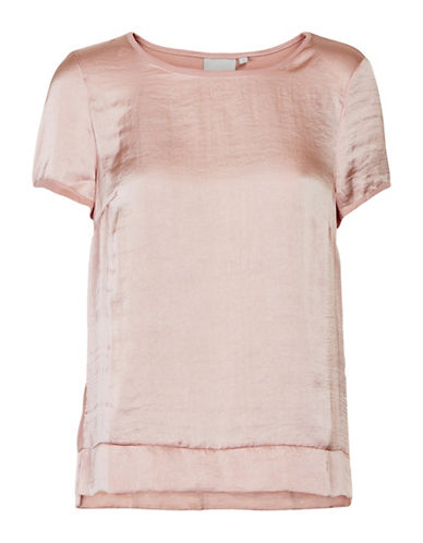 Inwear Gunvor Pleat Trim Top-PINK-40