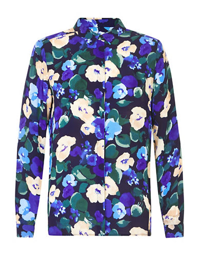 Inwear Gunhild Floral Blouse-BLUE-34