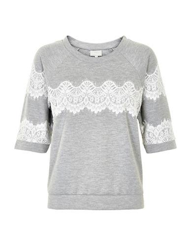 Inwear Yulia Lace Raglan Pullover-GREY-Small