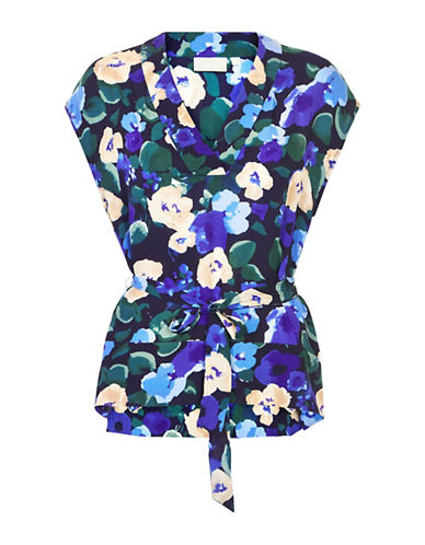Inwear Gunhild Floral Blouse-BLUE-32