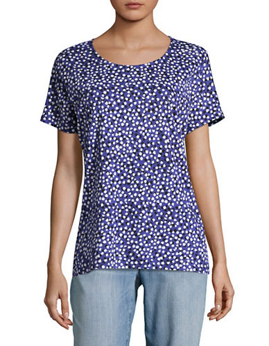 Inwear Yoki Floral T-Shirt-DOTS BLUE-X-Small