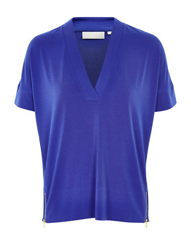 Inwear Cilla Knit Top-ROYAL BLUE-Large