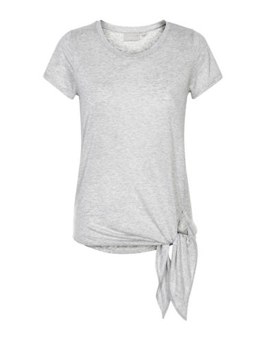 Inwear Camilla Tie T-Shirt-GREY-Large