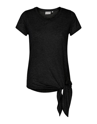 Inwear Camilla Tie T-Shirt-BLACK-X-Small