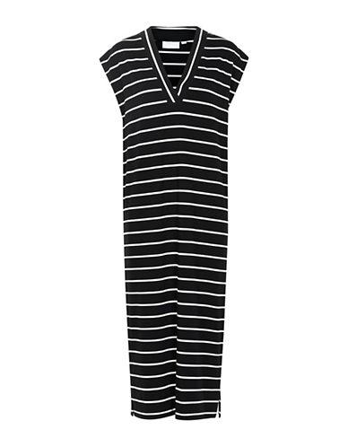 Inwear Cybel Striped T-Shirt Dress-BLACK/WHITE-Medium
