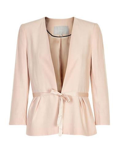 Inwear Base Tie-Front Blazer-BEIGE-38