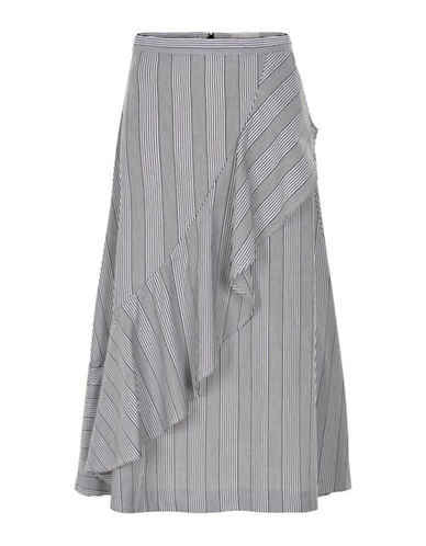 Inwear Badru Frilled Long Skirt-BLACK/WHITE-42